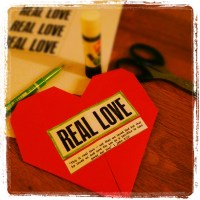 Real love origami heart