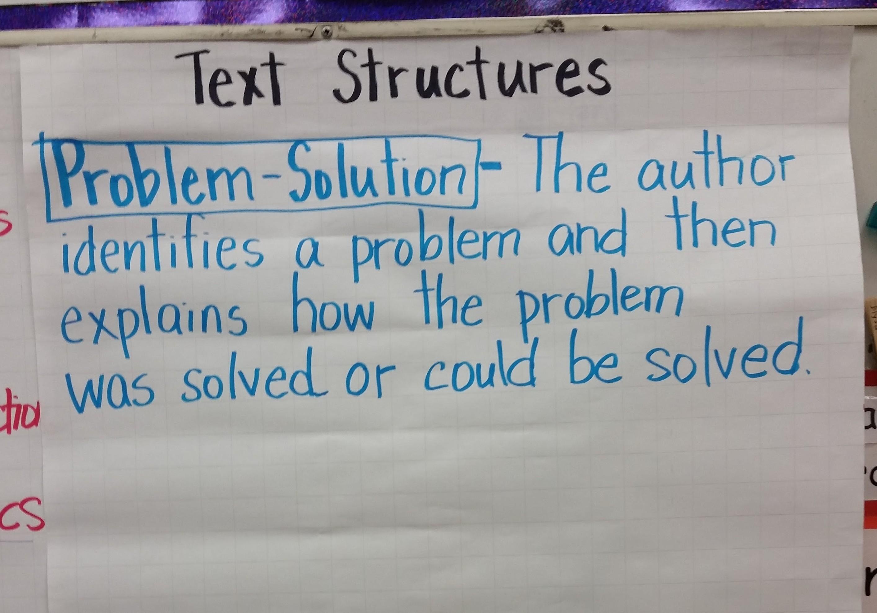 Problem Solution Text Structure