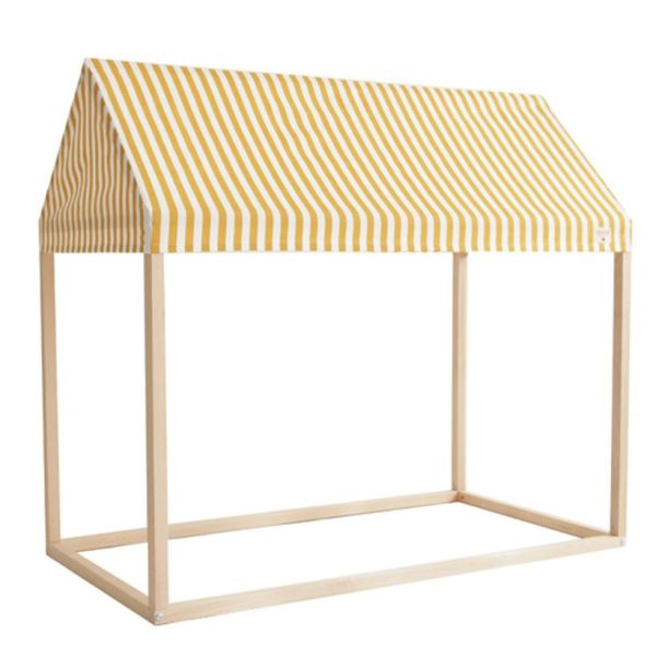 Nobodinoz - Cabane en bois et coton Ibiza home Honey stripes 1