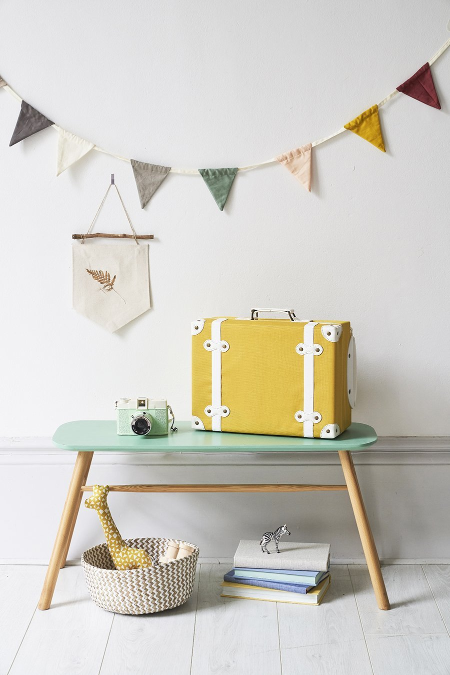 Olli Ella - Mini valise à roulettes - Sunday Grenadine ffaca2c54657