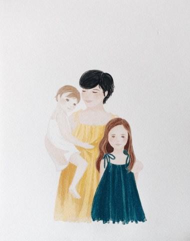 Cadeaux de famille originaux, illustration de famille // Crédit - Belle Pivoine