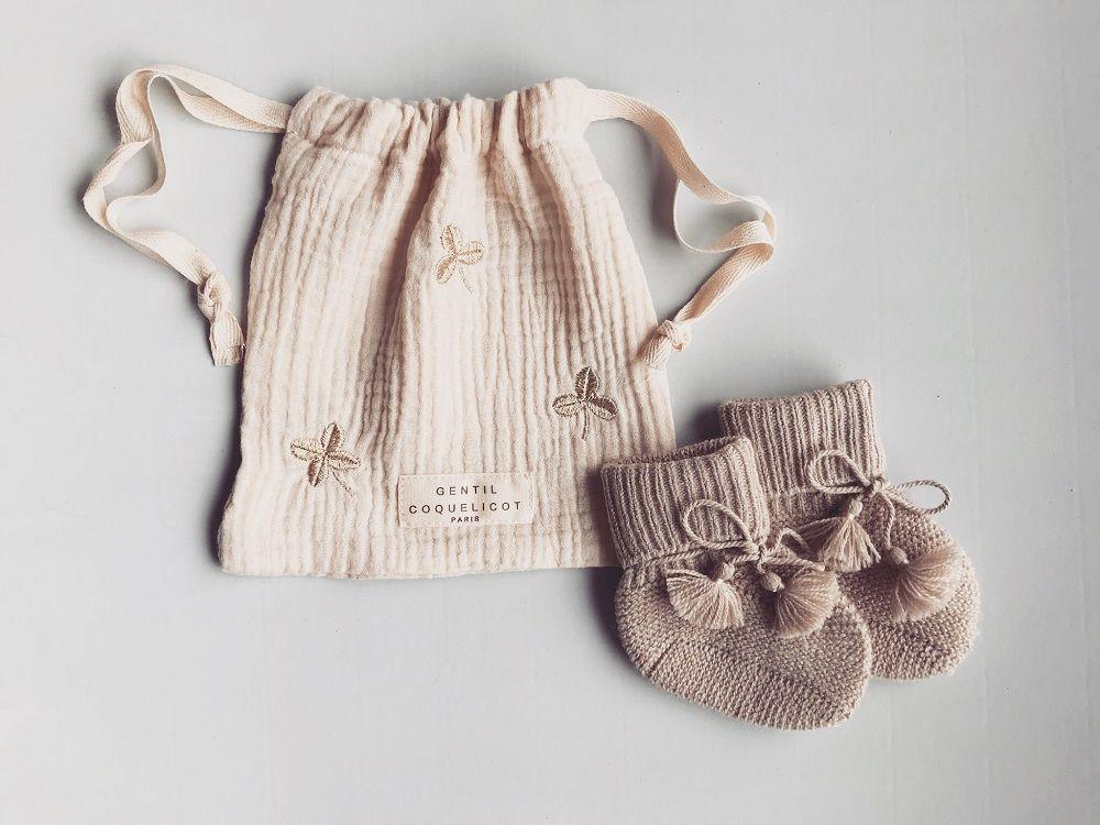 Chaussons bébé en maille