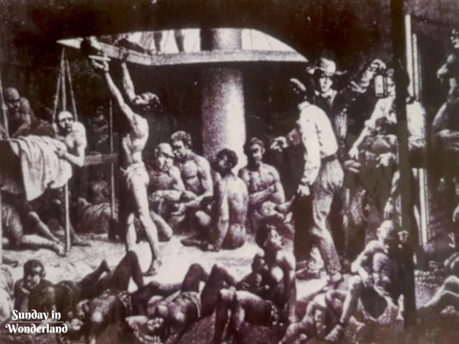 Afrykańscy niewolnicy przewożeni francuskim statkiem na Karaiby - Sunday In Wonderland Blog