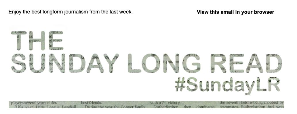 Sunday Long Read Logo Header