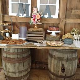 boho dessert table