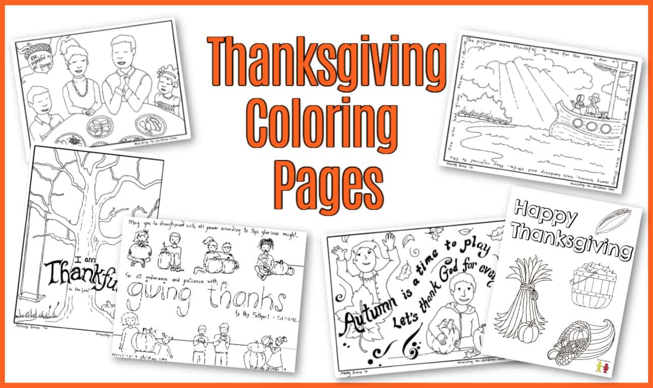 Thanksgiving Coloring Pages - Sunday School Works