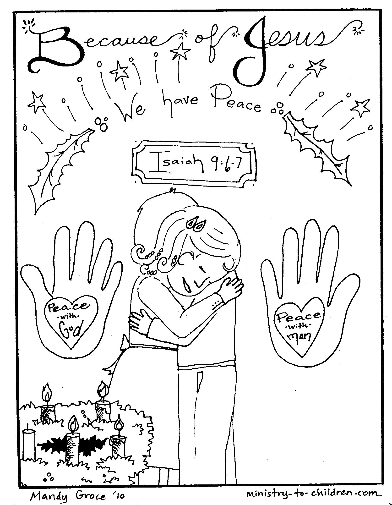 We have peace - Advent Coloring Page
