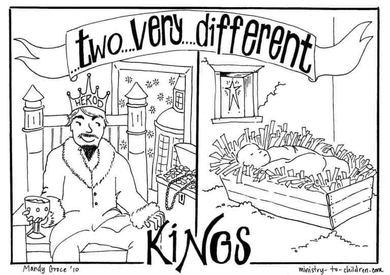 King Herod and Baby Jesus Coloring Pages