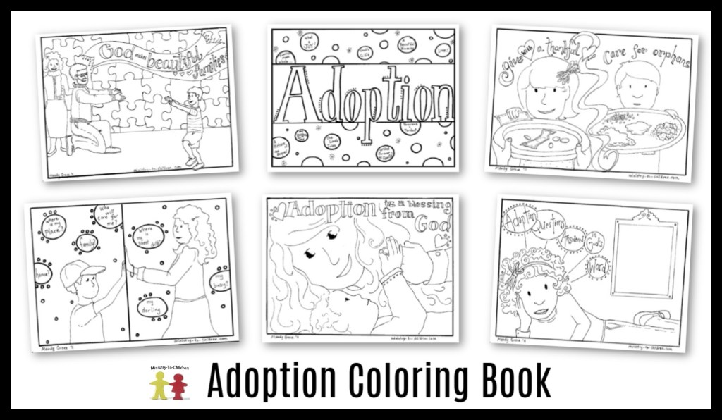 Christian Adoption Coloring Book