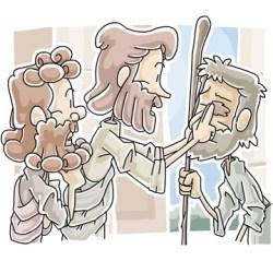 Sunday School lesson Jesus heals the man born blind
