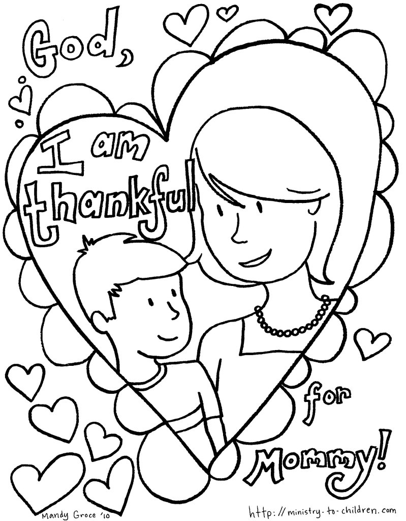 mothers day coloring sheet