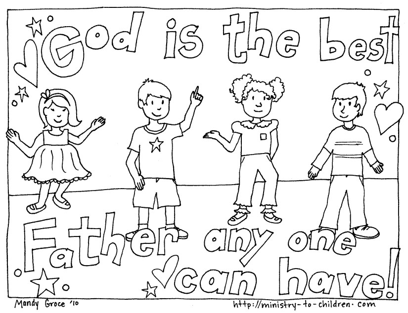 God is the best father coloring sheets