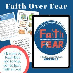faith over fear bible study for kids