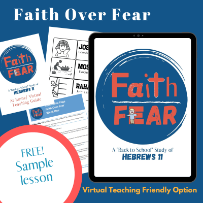 Back To School Bible Lesson - Faith Over Fear