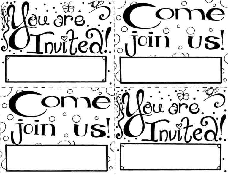 you're invited coloring page