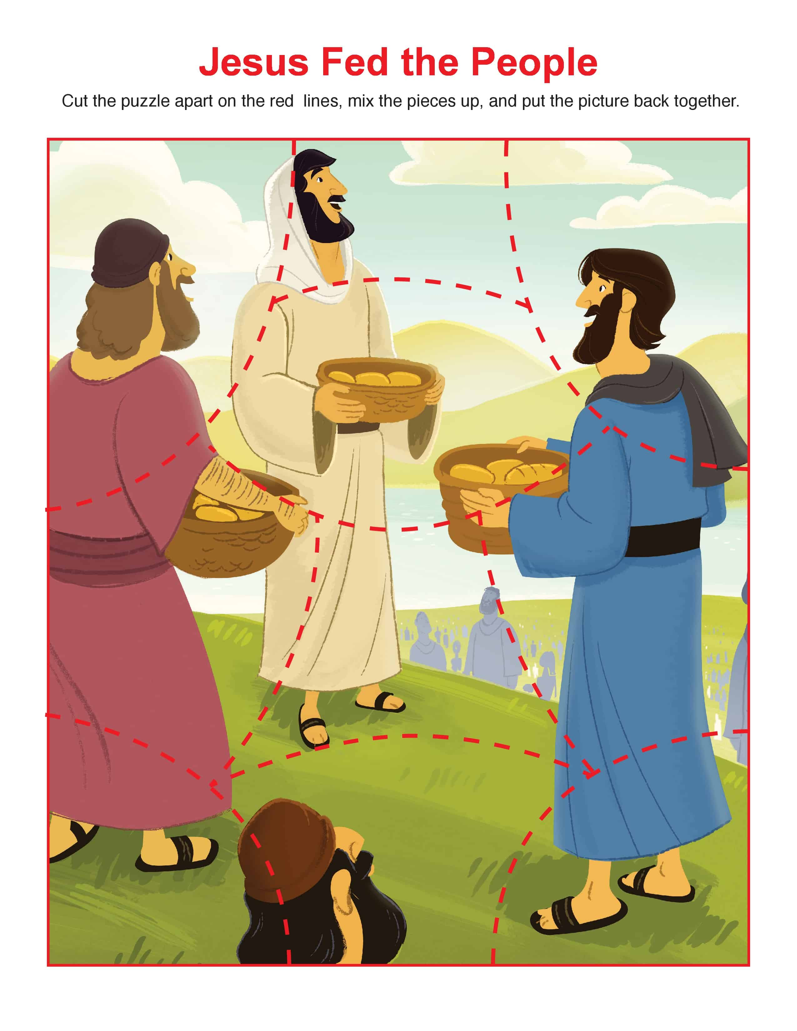 Jesus Feeds Bible Activity For Children