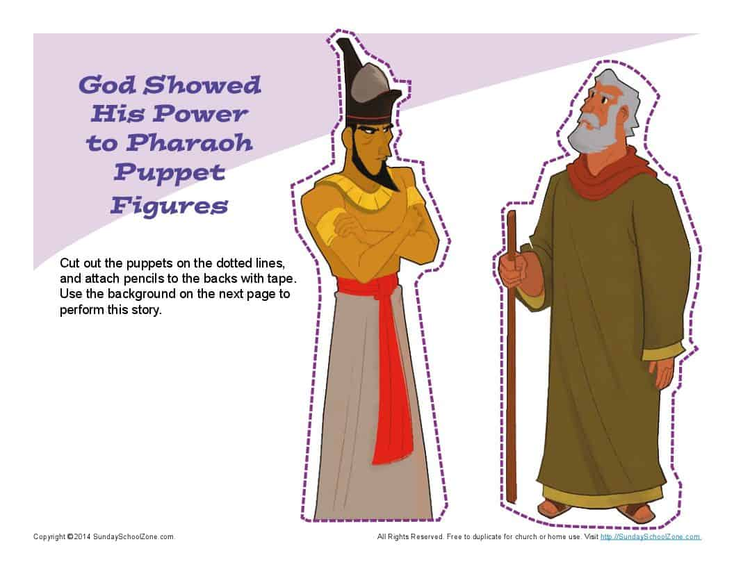 Moses Confronted Pharaoh Puppets