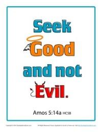 Bible Verses For Kids Printable Poster Amos 514a