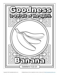 Fruit Of The Spirit For Kids Goodness Coloring Page