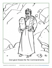 ten commandments coloring page # 6