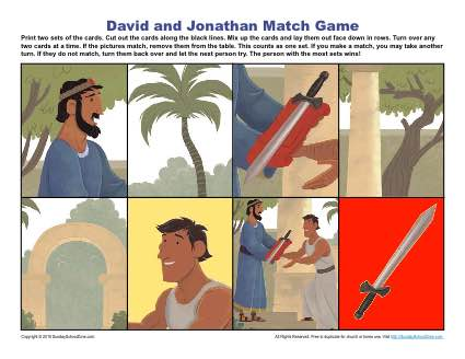 David And Jonathan Match Game Childrens Bible