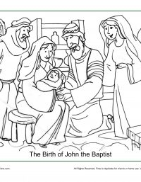 The Birth Of John The Baptist Coloring Page Childrens