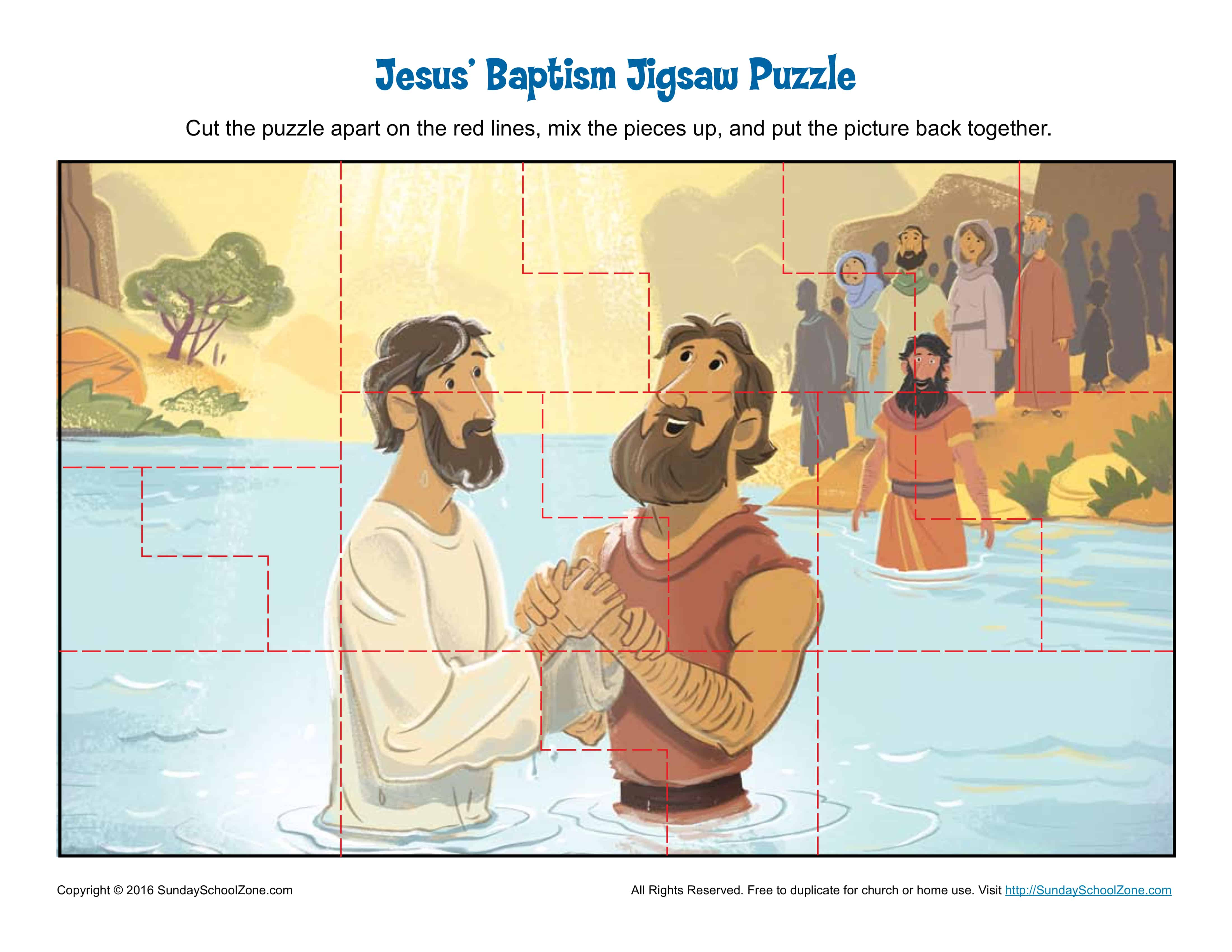 Jesus Baptism Jigsaw Puzzle