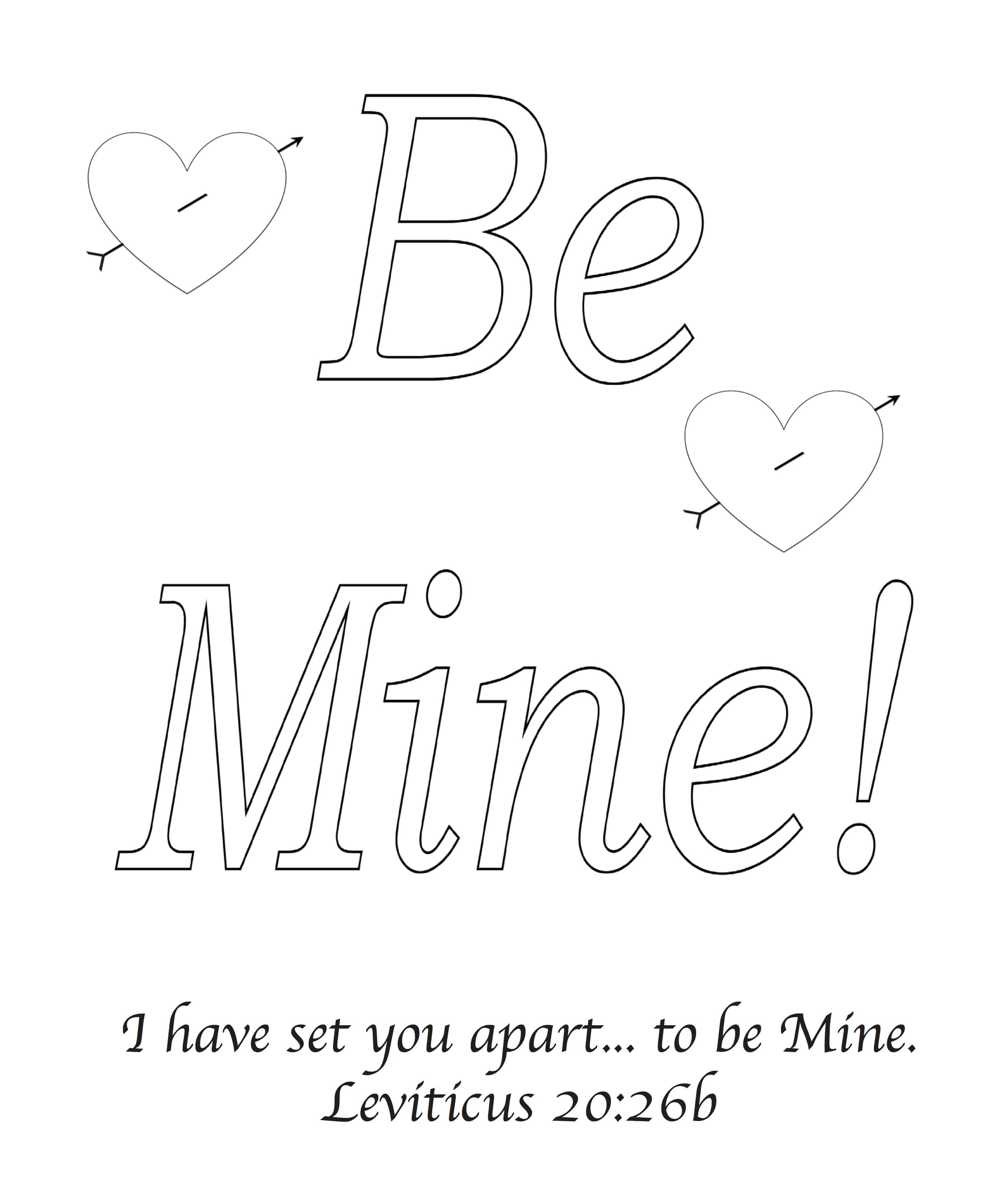 Be Mine Valentine S Day Bible Greeting Card With Leviticus 20 26