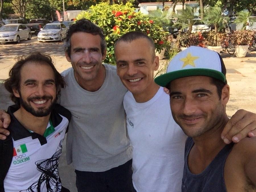 De gauche à droite : David, Bimba, João, Ivan. © Carlos