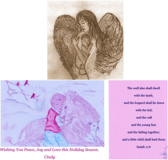 Art work and greeting card by Cindy Kerschner