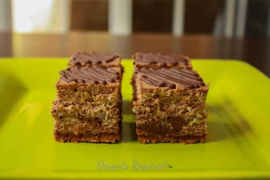 Coffee Chocolate Swirl Cheesecake Squares