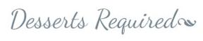Desserts Required logo