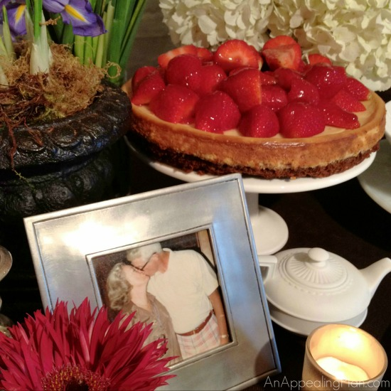 Anniversary Gathering Tablescape
