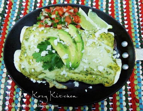 chicken enchiladas avocado cream 1