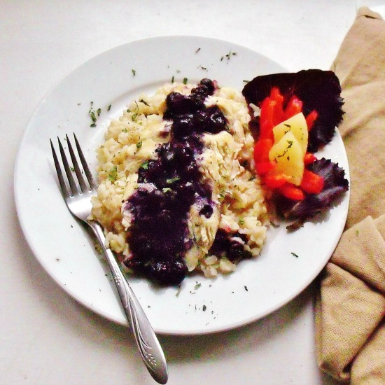 Blueberry Chicken and Rice