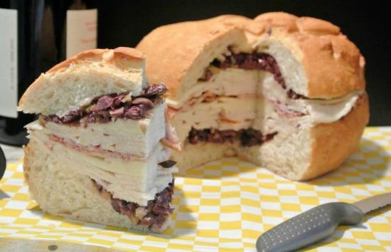 Chicken Muffeletta Sandwich
