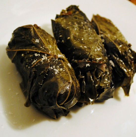 Quinoa-Stuffed Grape Leaves