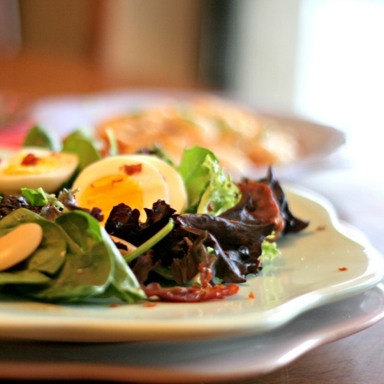 Northern Bean Salad with Egg and Prosciutto