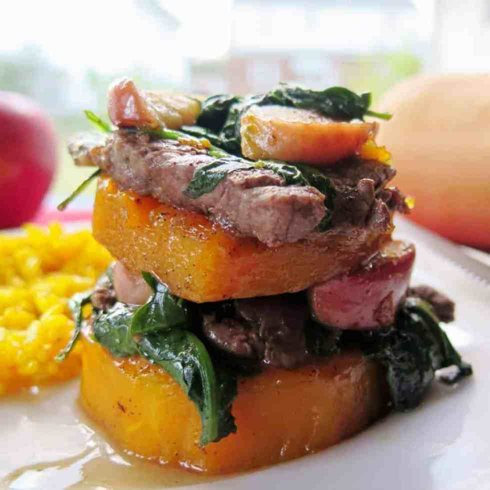 Beef Apple and Squash Napoleons #WeekdaySupper