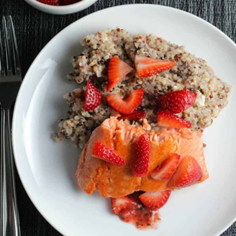 Quinoa with Salmon and Strawberries
