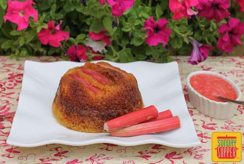 Rhubarb Steamed Pudding #SundaySupper