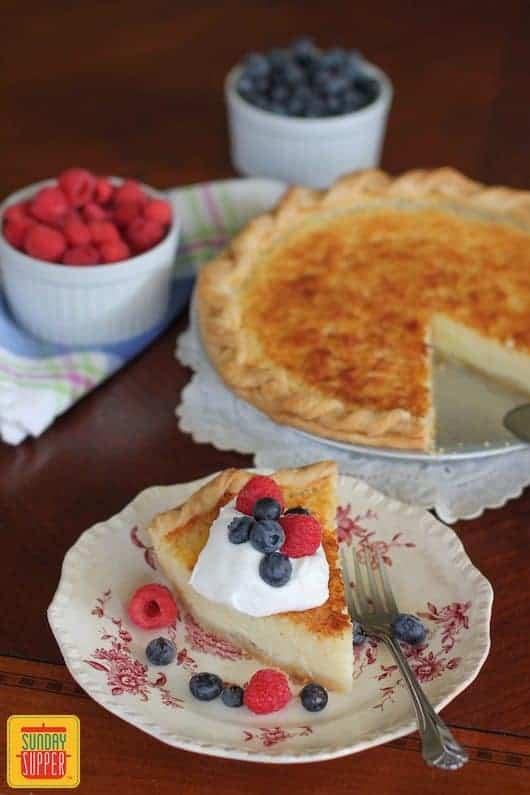 Southern Buttermilk Pie #SundaySupper