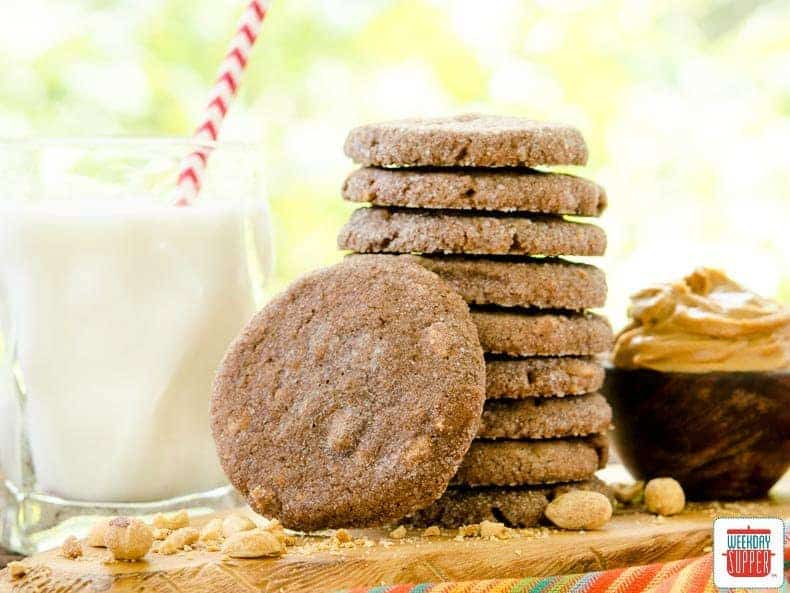 Mexican Chocolate Peanut Butter Cookies #WeekdaySupper