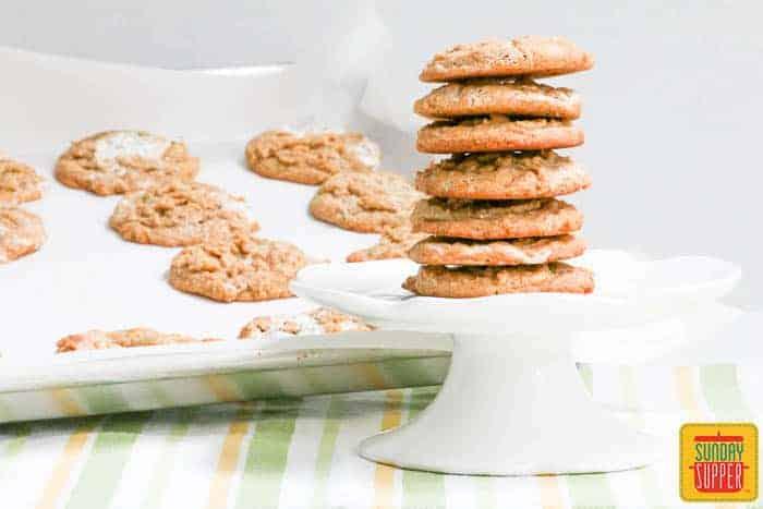 Peanut butter marshmallow cookies #SundaySupper