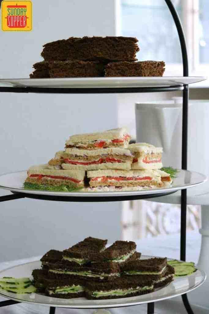 Best smoked salmon tea sandwiches #SundaySupper