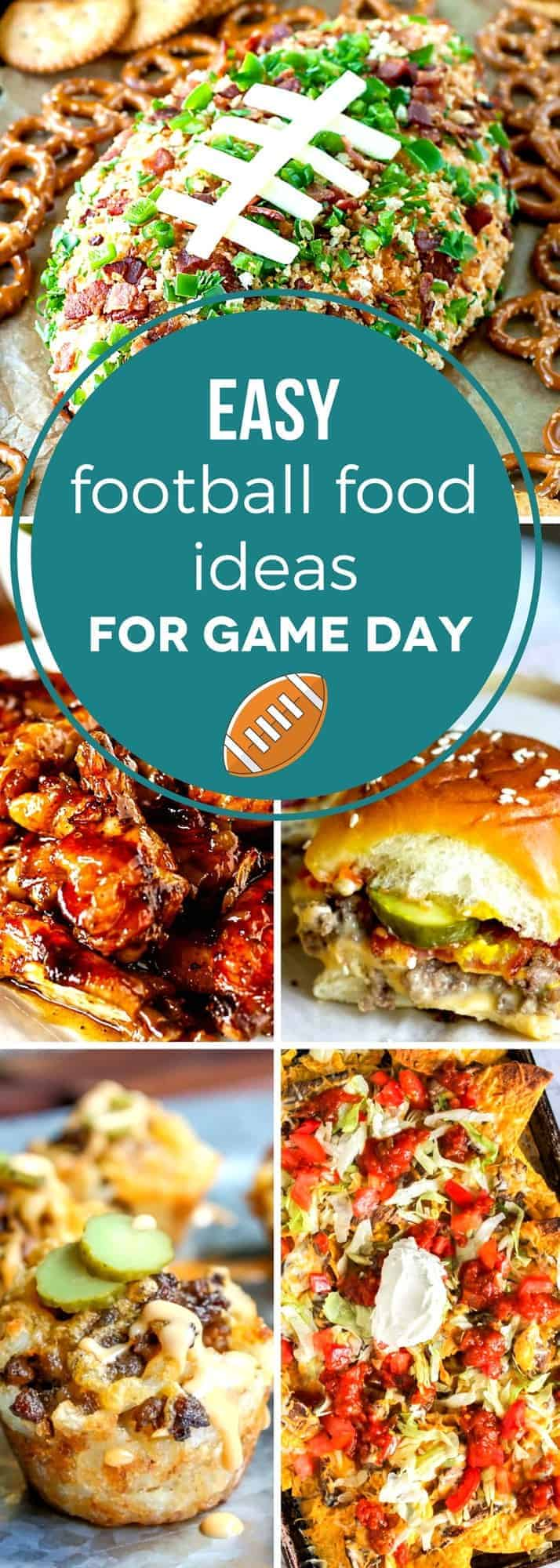 Get game day ready with these easy football food ideas for game day! Don't spend all your time in the kitchen and miss the big game. With over 30 deliciously easy recipes, you're guaranteed to find the perfect football appetizers for your party, big or small! #SundaySupper #tailgating #footballfood #gamedayfood #fingerfood
