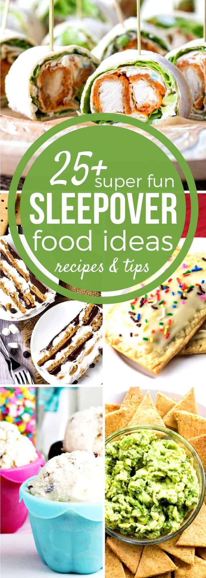 Need Sleepover Food Ideas for the big party? Our Sunday Supper recipe collection has fun dinner ideas, easy breakfast casseroles & fun-filled snacks too! Whether you decide to throw your own personal sleepover and relive the past or you want to cook up something special for your child and their friends, these Sunday Supper sleepover food ideas will set you on the right track and keep you there from breakfast to midnight snack!