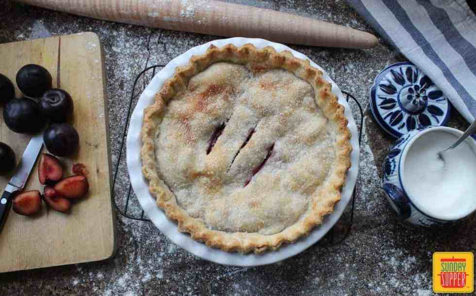Perfect Plum Pie #SundaySupper #Giveaway