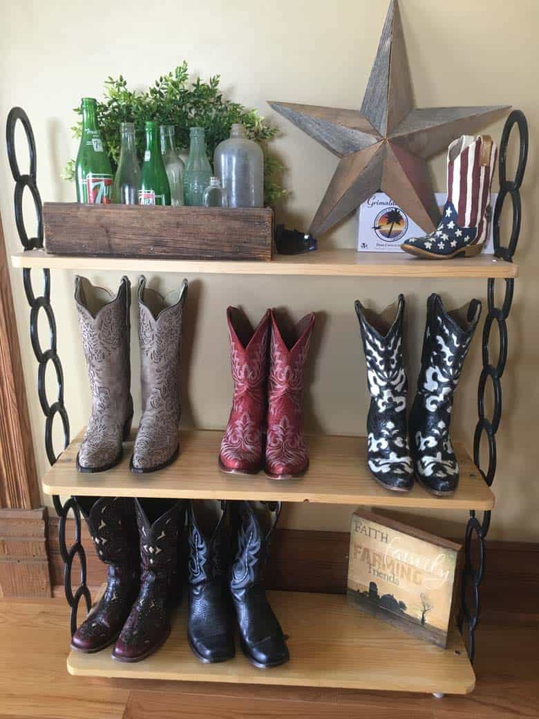 Cowboy boots on the ranch in Kansas.