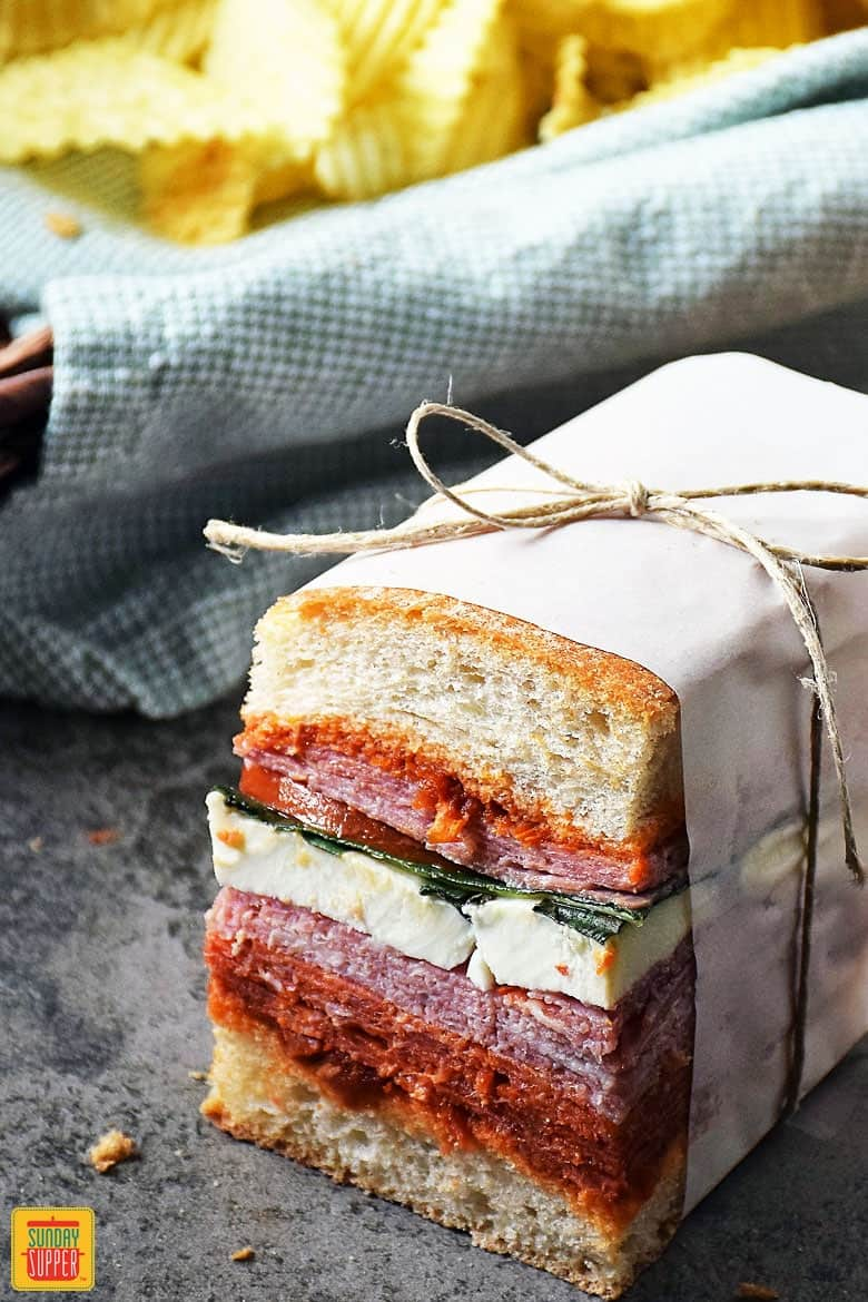 Italian Pressed Sandwiches ready to eat